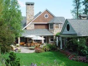 backyard, landscaping, patio, hardscape