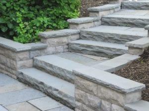 rock-face bluestone steps