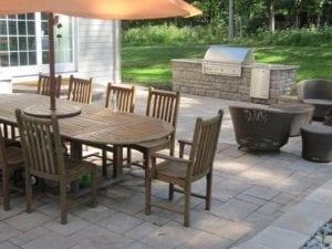 paver block outdoor kitchen