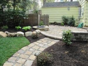 hardscape, walkway, patio, fire pit