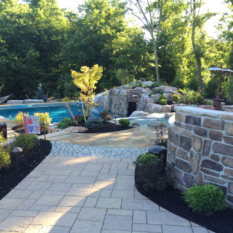 walkway, hardscape, pool,