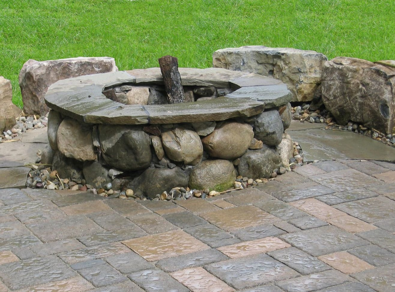 Outdoor Fireplaces Fire Pit Design In Central Nj