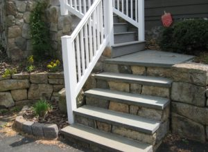 natural stone step, bluestone tread