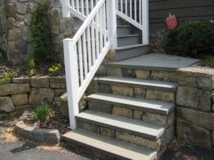 natural stone step, bluestone tread