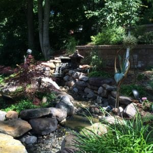 waterfall, water feature, pondless