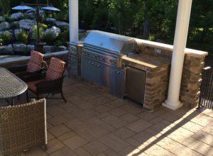 culturerd stone outdoor kitchen