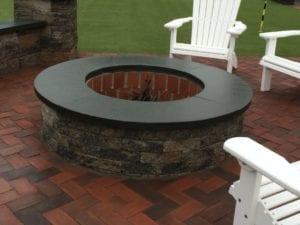paver block fire pit