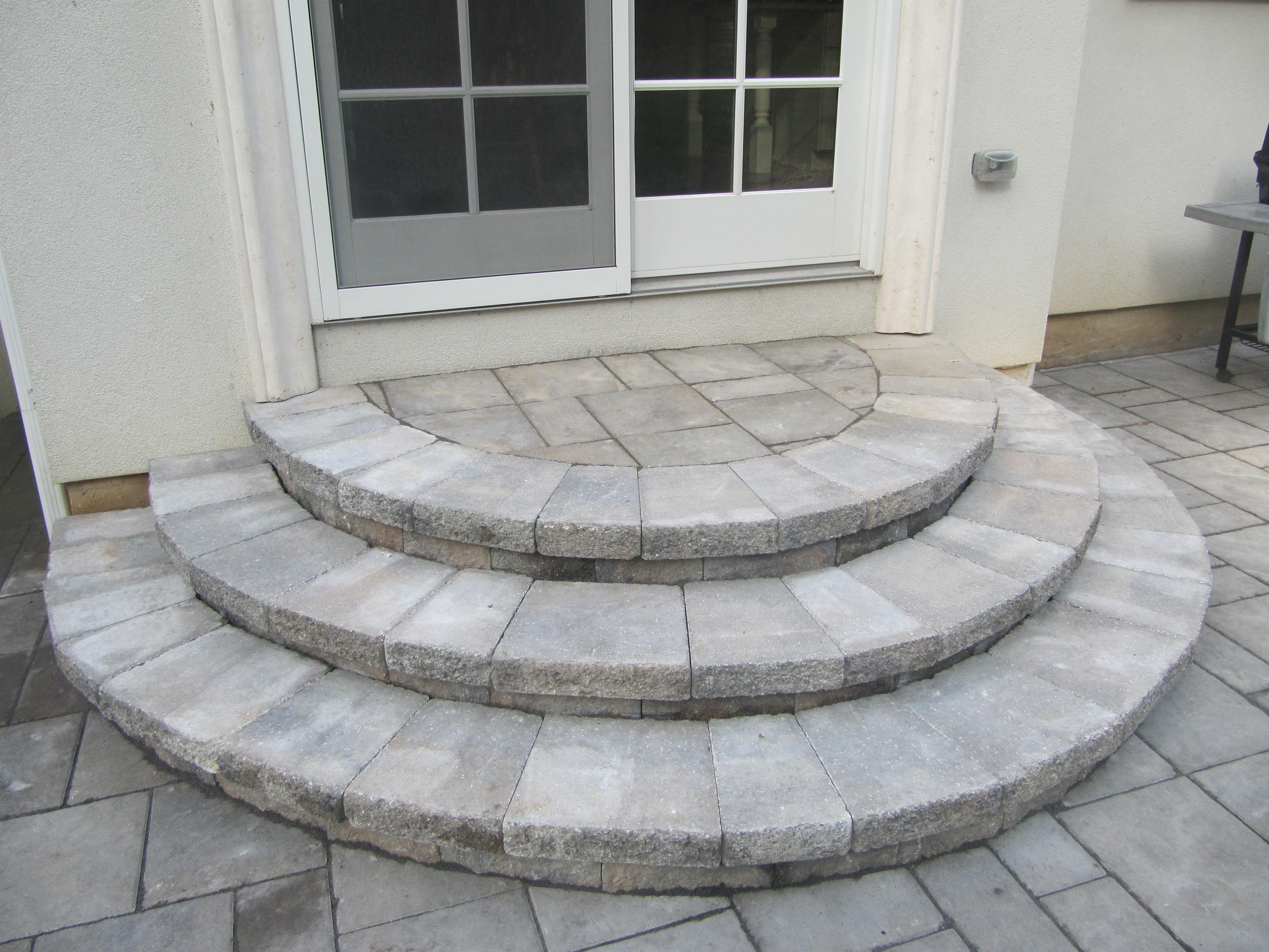 paver stone steps