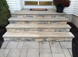 cultured stone steps