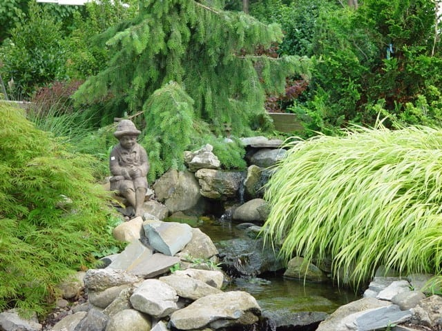 waterfall, water feature