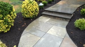 cultured stone steps, bluestone treads