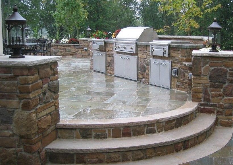 Landscape design company somerset hunterdon union for Outdoor kitchen designs nj