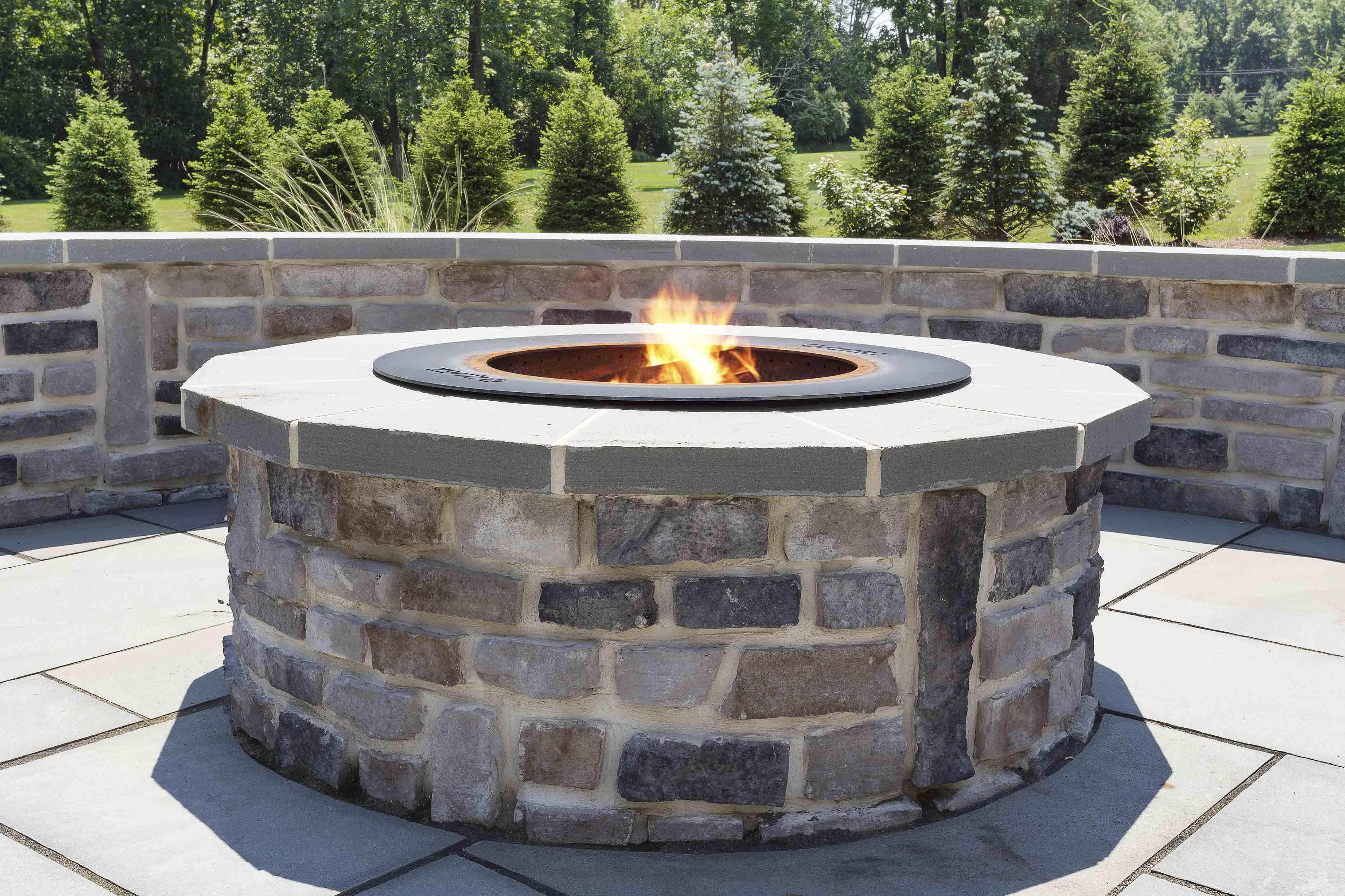 custom outdoor fire pit