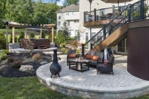 raised patio design nj