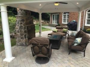 outdoor fireplace design nj