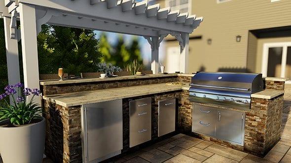 custom outdoor bar contractors central nj